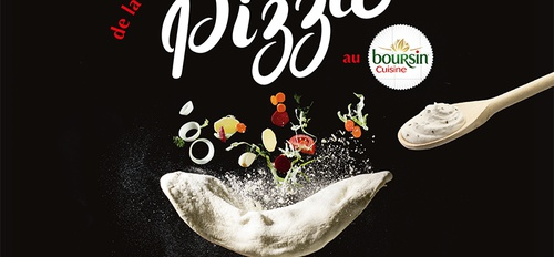illustration Boursin s'invite sur la pizza